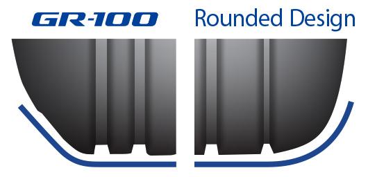 Thiết kế vai lốp dạng vuông giảm độ rung khi tiếp xúc với mặt đường