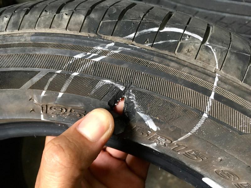 Nguyên nhân gây hư hỏng lốp ô tô